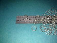 10 Diamond Cut Solide Argent Sterling 925 Closed Jump Rings 7 mm x 1 mm wire.
