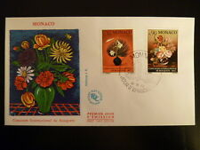 MONACO PREMIER JOUR FDC YVERT  897/99   BOUQUET FLEURS   0,30+0F   MONACO   1972
