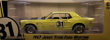 JERRY TITUS YELLOW #31 1967 FORD MUSTANG GREENLIGHT 1:18 SCALE DIECAST MODEL CAR
