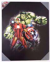 "Marvel Avengers Assemble Canvas Print Wall Art Home Decor 20"" x 16"" NEW"