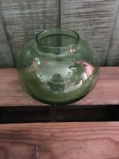 Southern Living at Home Southport Globe Trio Hand Blown Bubble Green Glass