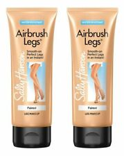 2 Sally Hansen FAIREST 4oz Airbrush Leg Smooth-on Perfect Makeup Water Resistant