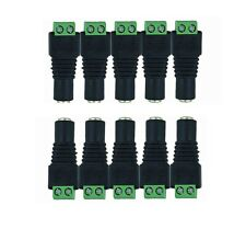 10 pieces Female DC Power Jack Connector Adapter Plug 2.1 x 5.5mm for CCTV LED