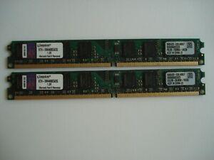 KINGSTON 4GB (2x2GB) DDR2 800 PC2-6400 240Pin CL6 SDRAM Memory KTH-XW4400C6/2G