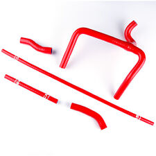FIT 2000 2001 HONDA CR250 CR250R SILICONE COOLANT RADIATOR RED Y HOSE PIPE KIT