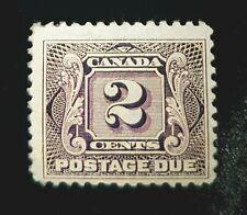 1906 Canada 2c Postage Due Stamp J2! Mint MH BOB F