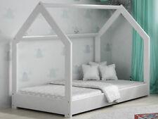 Bett Für Kinder Kinderbett Kinderhaus Holzbett Hausbett Holz Babybett Weiß