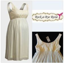 ROCK A BYE ROSIE CREAM LACE MATERNITY DRESS PARTY SPECIAL OCCASION SIZE 18 RP£95