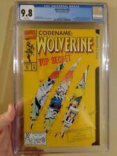 Wolverine 50 CGC 9.8 Die-Cut cover Marvel 1992 origin X-Men NM MINT WHITE Pages!