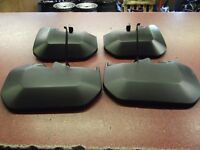 1 PAIR OF FRONT & REAR MUDFLAPS MK8 FORD TRANSIT 2014-> NEW OE