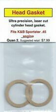Aftermarket Cylinder Head Gasket 2 Pack, Fits K&B Sportster .45 NIP