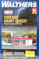 HO Scale Model Railroad Trains Layout Vintage Dairy Queen Building Kit Walthers