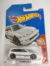 Hot Wheels 1:64 Diecast Car Models Collection Kids Toy Honda Civic EF White