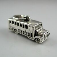 Sterling Silver SCHOOL BUS Charm for Bracelet DRIVER GIFT Necklace Pendant CUTE!