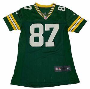 Green Bay Packers Jordy Nelson 87 NFL On Field Nike Womens Jersey Green Mesh S