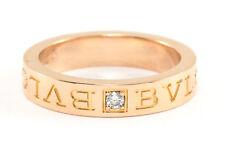 18K Bvlgari Diamond Ring Rose Gold