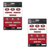 New 24 Premium Die-Cut Mini Vinyl Decal / Sticker Pack - NFL San Francisco 49ers