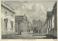 1860= OLD LONDON = CARLTON HOUSE IN 1820 = Stampa Antica = Old Rare ENGRAVING