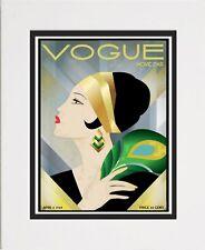 Vogue Magazine Cover Art Print Vintage Art Decor Style Home Decor 01