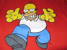 SIMPSONS HOMER HARD TO FIND LARGE RED SHIRT NICE