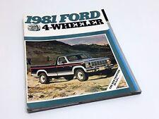 1981 Ford F-150 F-250 F-350 Bronco 4-Wheelers Brochure