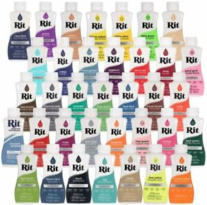 Rit All-Purpose Liquid Dye 8 Oz *Pick A Color* - Free Same Day Shipping