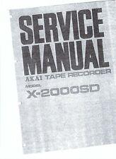 Akai  service manual  für X- 2000 SD Copy