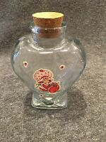 Heart Shaped Glass Bottle With Cork Lid