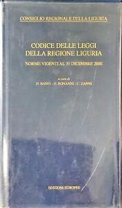CODICE DELLE LEGGI DELLA REGIONE LIGURIA - EUROPEE 2001