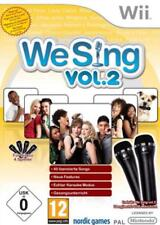 Nintendo Wii We Sing Vol 2 + 2 Mikro Mikrofone DEUTSCH Top Zustand