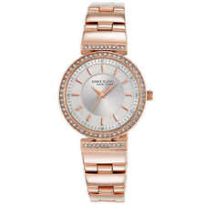 Anne Klein Women's 12/2258SVRG Crystal Accented Rose Gold Tone Watch
