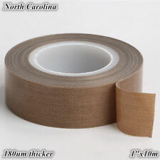 "1"" x33ft Teflon Tape PTFE 180um Thicker 662℉ Adhesive High-Temp Fiberglass US"