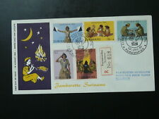 girl scout jamboree 1961 registered FDC Suriname 86997