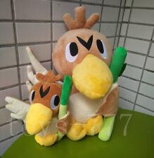 "2X Pokemon Character Farfetch'd 14"" and 7"" Stuffed Animal Duck Take Scallion Toy"