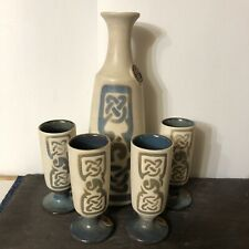 More details for beautiful ceramic wine / water jug & matching cups