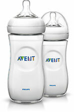 Philips Avent Scf696/27 Feeding Bottles 330 Ml With Teats 3 Holes Natural X2