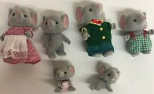 1985 Calico Critters Lot of 6 Elephants family