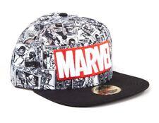 Cappello Marvel - Classic black/white comics Red Logo Snapback cap Difuzed