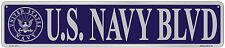 United States US NAVY BLVD NOVELTY STREET SIGN Gameroom Bar Garage USA