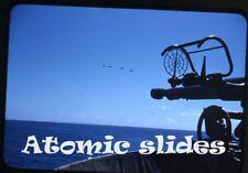 1953  kodachrome Photo slide US Navy ship anti aircraft gun Military Airplanes