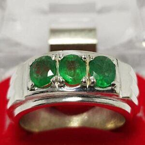 Real Emerald stone Men's Natural Emerald Stone Ring Panjsher Emerald Stone Ring