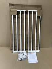 Cuggl Wall Fix 60-97cm Extending Safety Gate - White - New Used