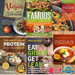 Vegan Pressure Cooker Cookbook 100 Delicious Plant-based Recipes Fast 6 books