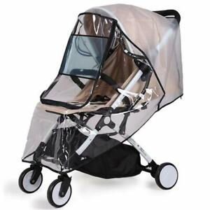 Universal Baby Transparent Carriage Rain Cover Waterproof  Stroller Pushchair TQ