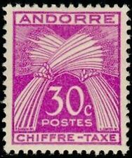 """ANDORRE FRANCAIS STAMP TIMBRE TAXE N° 22 """" CHIFFRE-TAXE 30c. """" NEUF x TB"""