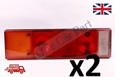 2x REAR TAIL LAMP LIGHT UNIVERSAL FITMENT DAF MAN IVECO SCANIA VOLVO RENAULT