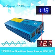 Double DISPLAY Pure Sine Wave Power Inverter 1500W/3000W 12V DC to 100V-120V AC