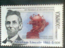 DOMINICA SERIES AMERICAN PRESIDENTS ABRAHAM LINCOLN 1v. MINT ** MNH