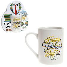 """Padre Día Taza Gres - Regalo - Color Palabras """"Happy Padre Día"""""""