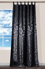 Schlaufenschal Lyon schwarz Barock 140x245cm Vorhang mit Schlaufen Schal Gardine